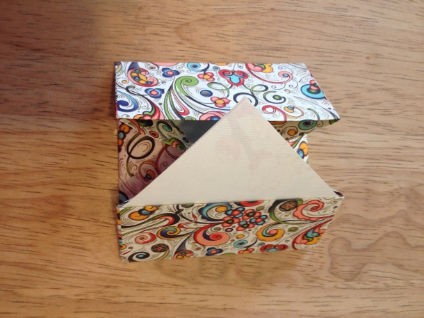Box with lining inserted
