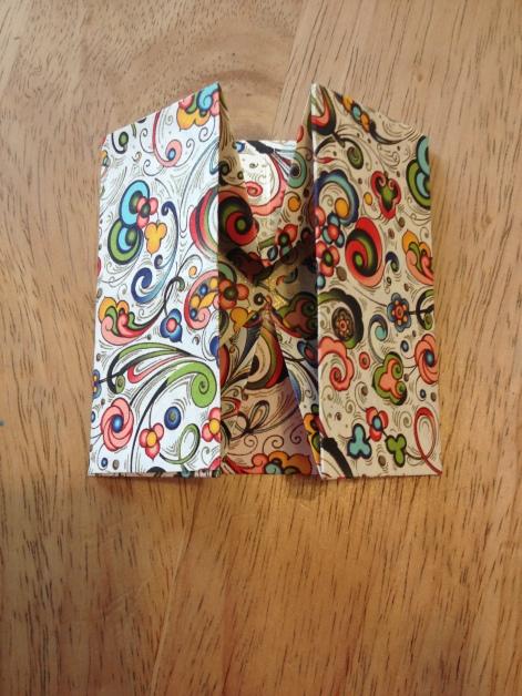 origami box folded flat